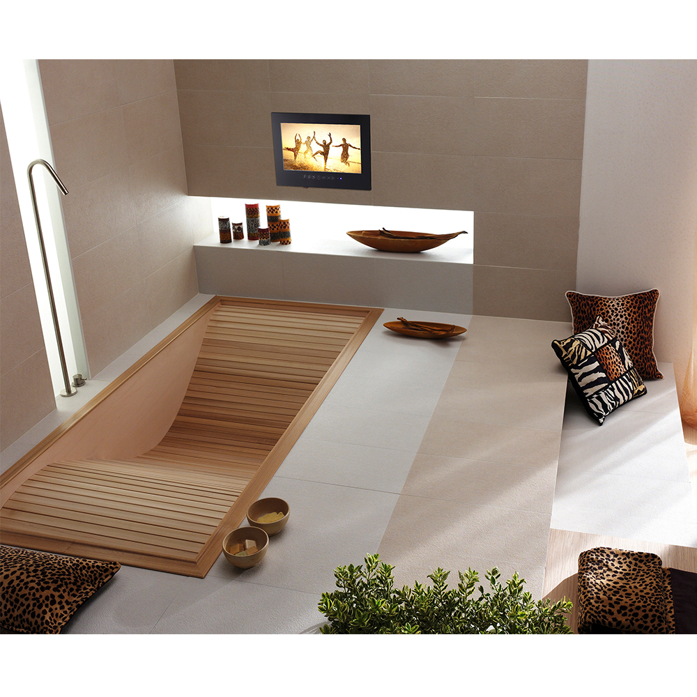 Souria 22 дюймов отель Крытый телевизионной рекламы IP66 Водонепроницаемый Номинальная Многофункциональный Ванная комната светодио дный ТВ черный/белый