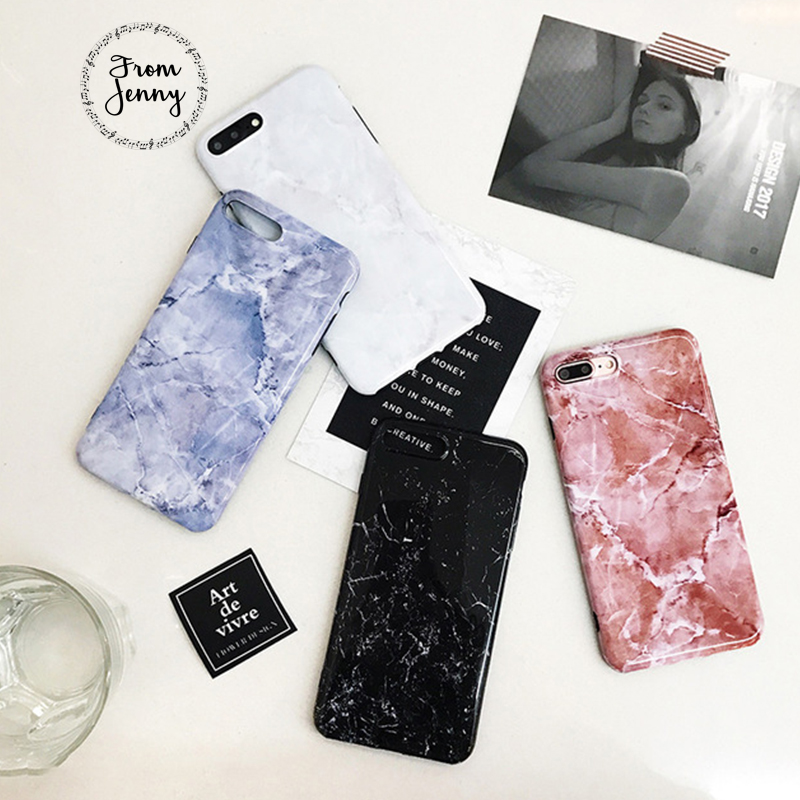 From Jenny For iPhone 7 7plus Crack Marble Case White Black Pink Blue Color Soft TPU Case for iPhone 6 6s 4.7 6plus 6splus 5.5