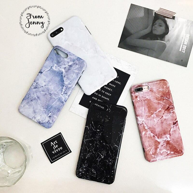 De Jenny Pour iPhone 7 7 plus Fissure Marbre Cas Blanc Noir rose Bleu Couleur Souple TPU Cas pour iPhone 6 6 s 4.7 6 plus 6 splus 5.5