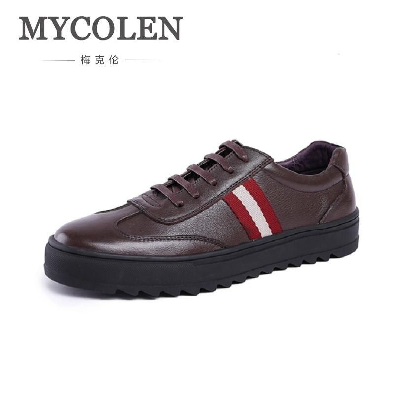 146d2226d A Moda Zapatos Los Masculino Negro Mycolen Hechos Piel Mocasines Negocios  Mano marrón Casual Genuino Hombres Cuero Formal De Vaca Hombre xzxBPq