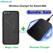 Original NILLKIN Phone Wireless Charger Charging Pad Fast Edition + Wireless Charging Receiver Case for Xiaomi Mi6 Mi 6