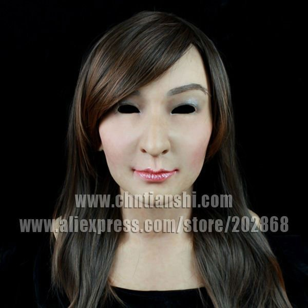 2016 Silicone female mask Realistic high simulated dermatoglyph capillaries freckle