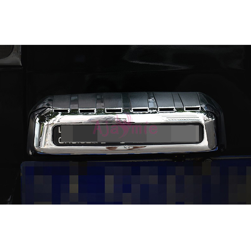 License Plate Frame Overlay Panel 2003 2004 2005 2006 2007 2008 2009 Car Styling For Toyota Land Cruiser Prado FJ120 Accessories in Chromium Styling from Automobiles Motorcycles