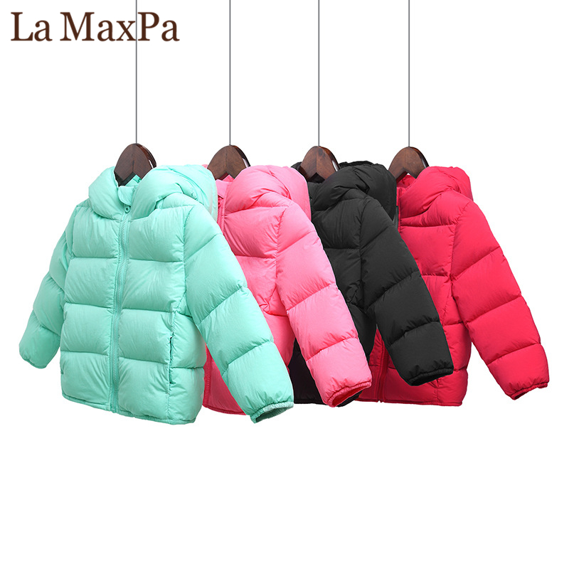 2018 Brand girls &boys winter jackets autumn jackets for boys duck down winter jacket for girls coats 2-6Y korean kids clothes