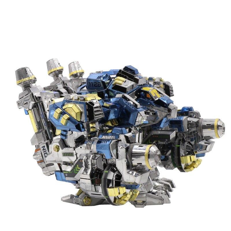 MU Start Craft 2 Thor Odin Armor DIY 3D Metal puzle ensamblar modelos Kits corte láser rompecabezas juguetes YM N020-in Kits de construcción de maquetas from Juguetes y pasatiempos    3