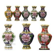 """1 пара/2 шт """" Китайский Винтаж ручной работы перегородчатая ваза орнамент украшение дома"""