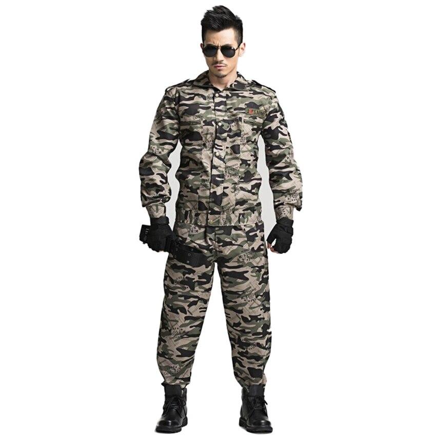 US Army Suit Men Military Uniform Outdoor Tactical Battle Combat Jacket+trousers Hunting Clothing Set Multicam Costume