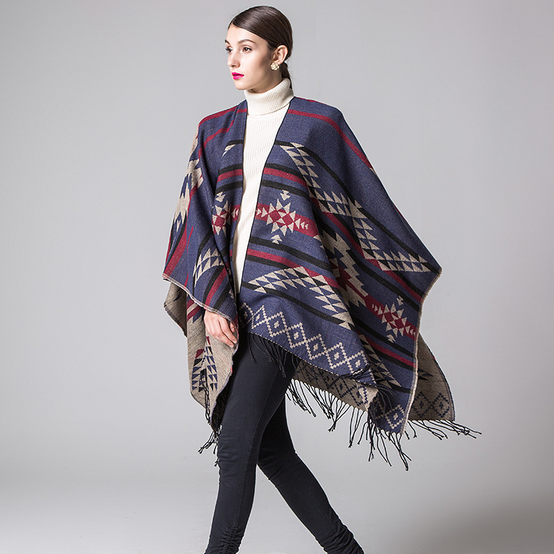 Fashion New Cashmere Foulard Winter Poncho Pashmina font b Tartan b font Winter Coat Women Blanket