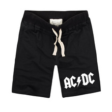 New Brand Mens Casual Shorts with Pocket ACDC Letter Printing Pure Cot