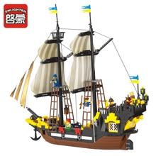Enlighten 590Pcs Building Blocks LegoING Pirate Ship Weapon Model Kits Sets Bricks Educational Toys for Children Christmas Gift