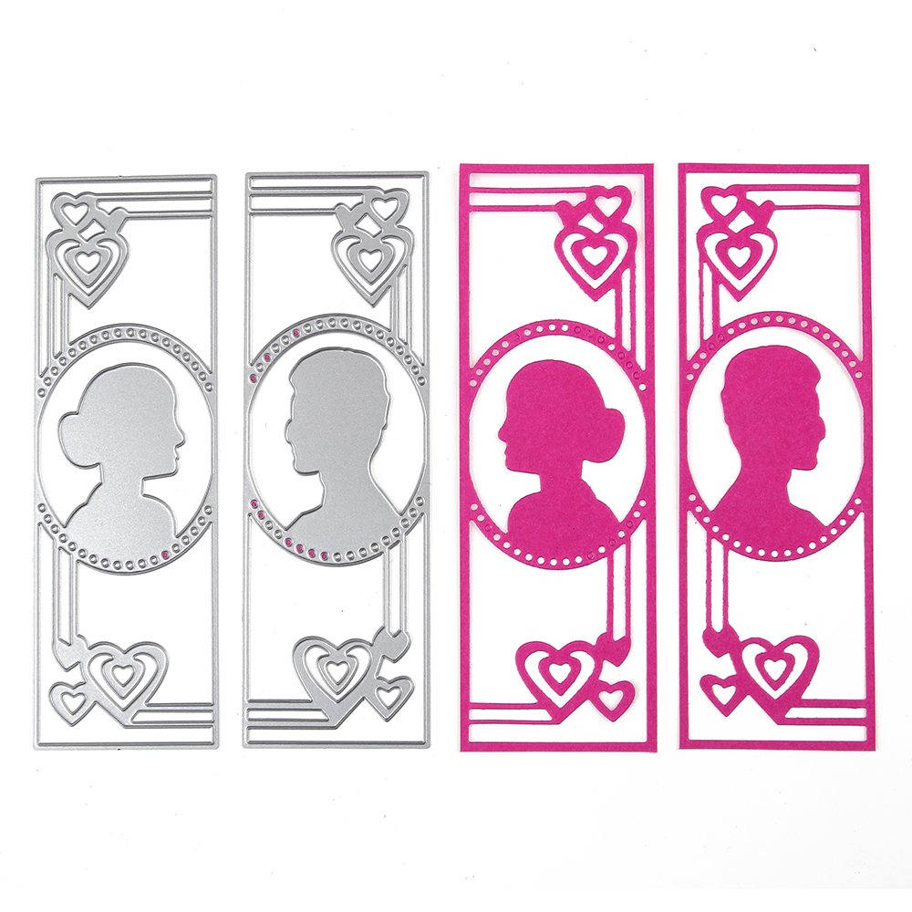 1Set 47*145 mm Metal Steel Women Men Love Head Cutting Dies Stencil For DIY Scrapbooking Album Paper Card Photo Decorative Craft