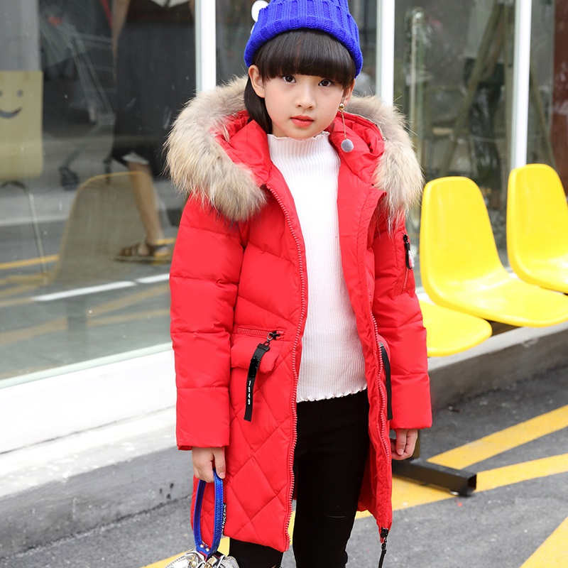 2017 new girls jacket winter jackets thickening down coat children girl kids clothes coats parka korean 6~14 year fashion down winter jacket for girls thickening long coats big children s clothing 2017 girl s jacket outwear 5 14 year