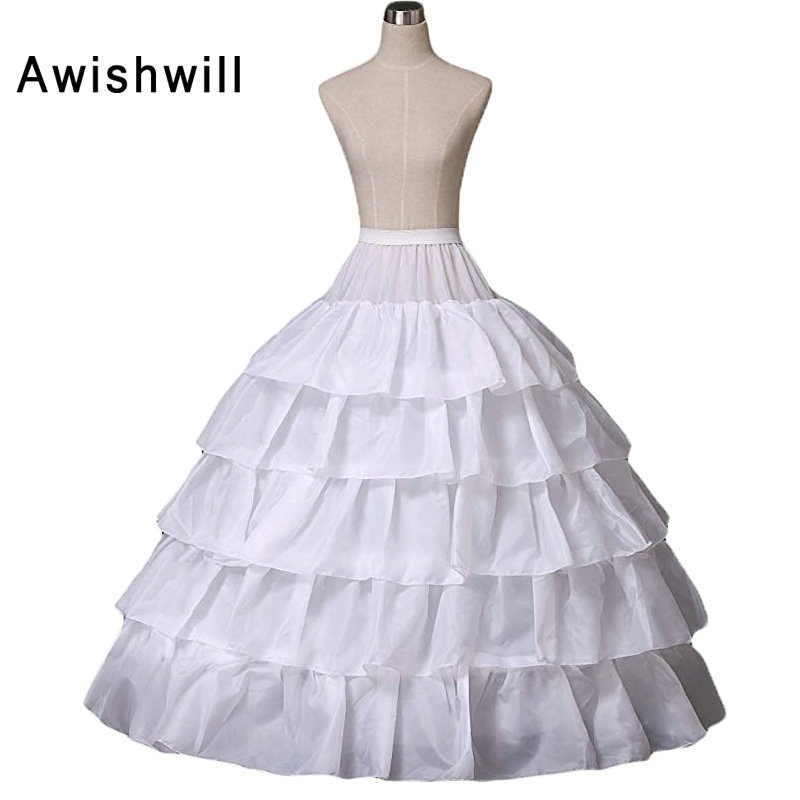 Wedding Gowns Accessories: Wholesale Price 5 Layers Wedding Dresses Petticoats