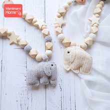 Mamihome 1set Baby Wooden Teether Gym Animal Pacifier Pendant Wooden Bead Pacifier Clip Pram Cart Chain Children'S Goods Toy стоимость