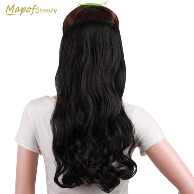Curly 34 Full Head Clip In Hair Extensions Black Brown Real Natural