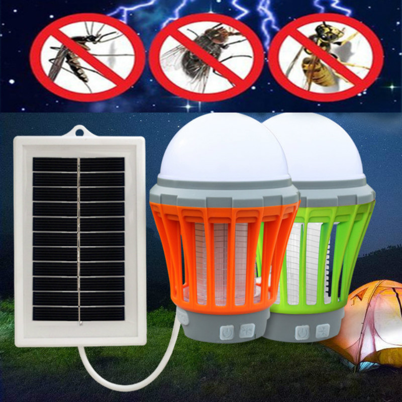 Solar Powered Mosquito Killer Best Natural Environmentally Lamp Insect Pest Bug Zapper Outdoor Led Camping Tent Light With Night стоимость