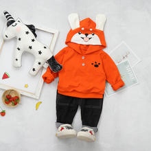 2019 Autumn New Toddler Boys Girls Clothes Set Infant Baby clothing Suit Dog Hooded Coat Pants Kids Children Costume Suit цена в Москве и Питере