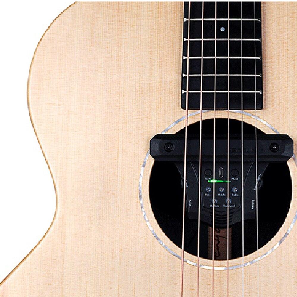 DOUBLE G0 guitare acoustique pick-up Chorus retard réverbération effets micros magnétiques Piezo Soundhole fréquence micro guitare accessoires - 4