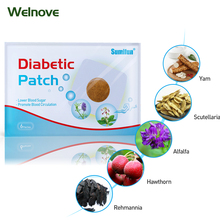 72pcs/12bags Diabetic Patch Diabetes Herbal Diabetes Cure Lower Blood Glucose Treatment Sugar Balance Plaster D1807