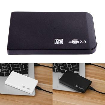 1 set 2.5 Inch USB 2.0 Hard Drive Disk SATA External Enclosure Hard Drive Cases 2 Colors With USB Cable Drop Shipping