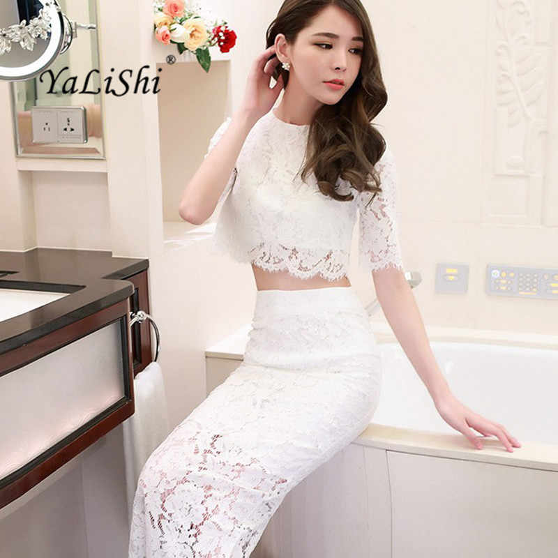 77f3df8204 Detail Feedback Questions about YaLiShi 2 piece set Women Dresses ...