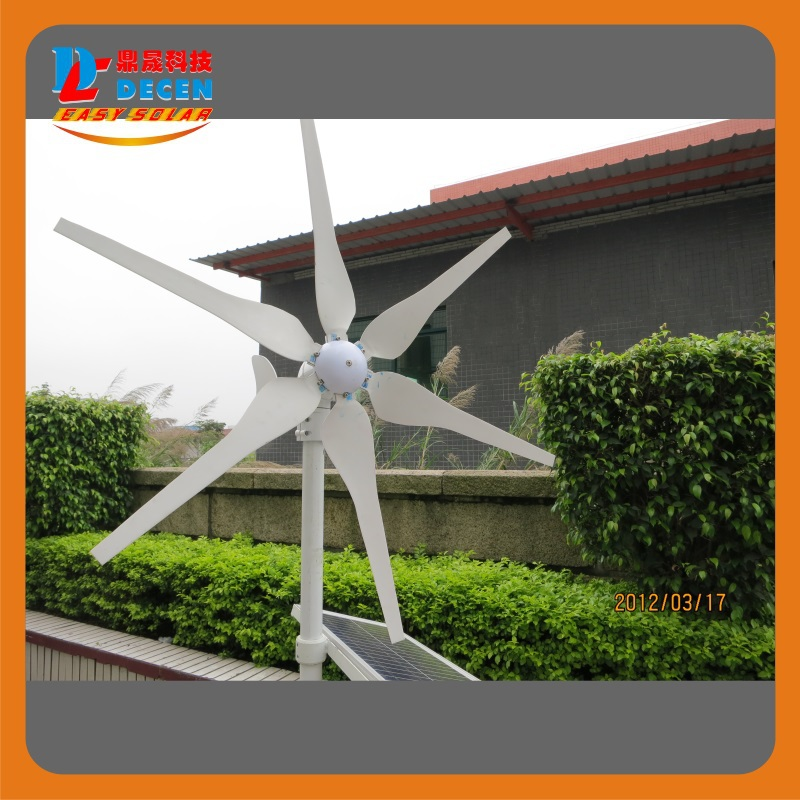 MAYLAR@ 400W High Efficiency Wind Generator Small Size Low Weight. Low Noise Easy Install 6 Blades CE Certificate