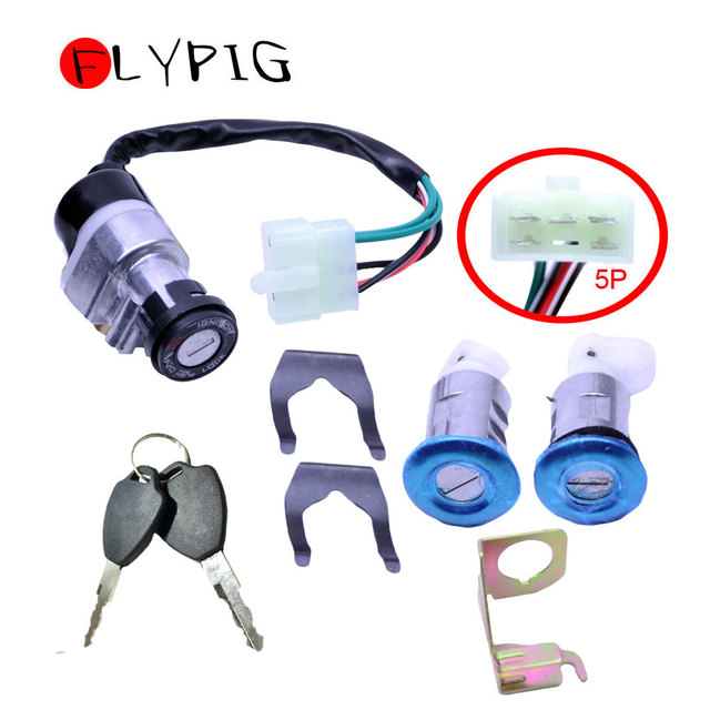 US $11 92 |Aliexpress com : Buy New Ignition Switch Key Set for Honda Gy6  125cc 150cc Moped Motorcycle Scooter 5 Wires D10 from Reliable ignition