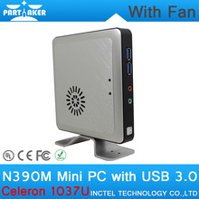 8 Г ОЗУ 64 Г SSD Celeron 1037U N390M Linux Мини-ПК Случае поддержка Wi-Fi Bluetooth