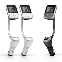 FM Transmitter Bluetooth Car Kit Aux Bluetooth Handsfree Car Wireless Hands Free Music Player USB Car