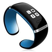 Braccialetto Bluetooth orologio Da Polso intelligente L12S pelliccia telefoni Android blu nero
