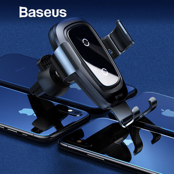 Baseus Qi Car Wireless Charger for iPhone XS Max XR 8 Samsung Fast USB Wireless Charging Pad for Mobile Phone Car Phone Charger