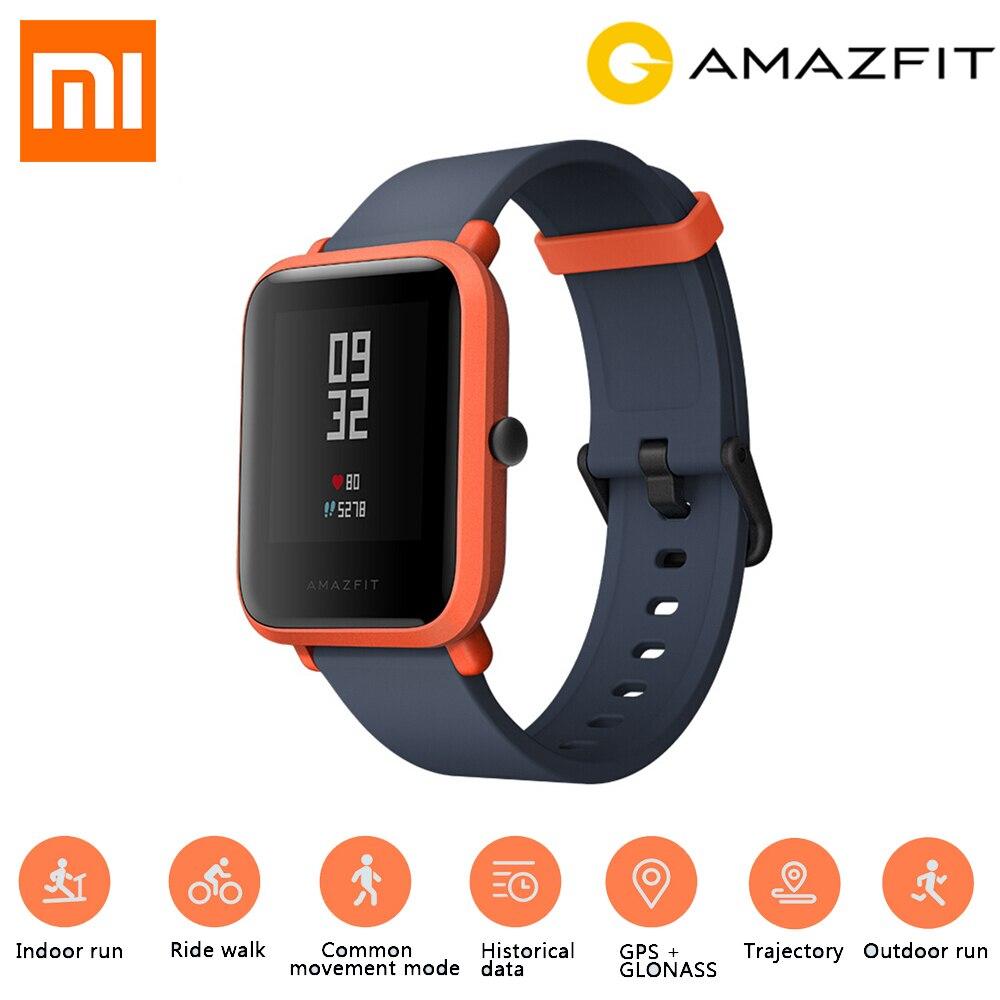Anglais Version Xiaomi Huami Amazfit Bip Montre Smart Watch GPS Gloness Smartwatch Smart-montre Montre Bluetooth 4.0 45 Jours Veille IP68