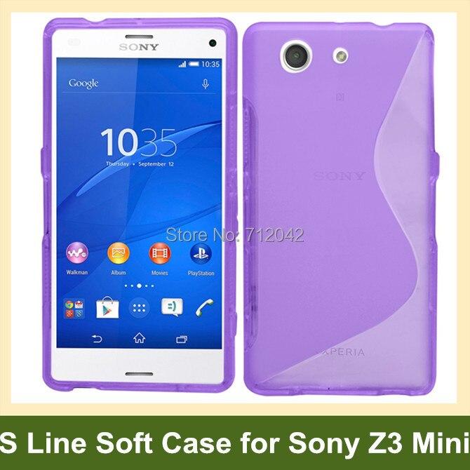 OEEKOI de línea S de Gel suave de plástico de la cubierta del TPU del caso para Sony Xperia Z3 compacto/Z3/Mini/M55w envío Gratis