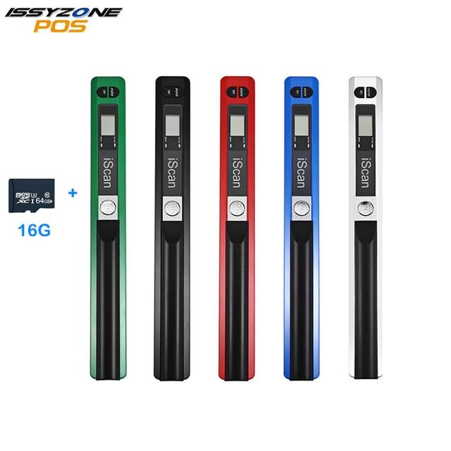 IssyzonePOS Tài Liệu Di Động Máy Quét Mini Cầm Tay A4 Hình Ảnh Di Động Máy Quét USB Micro SD TF Card đối với Nhà Offlice Cuốn Sách Quét