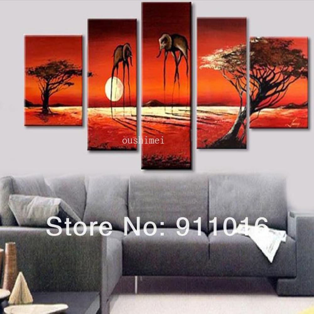 ⑦Para la pintura decorativa abstracta moderna del paisaje imagen ...
