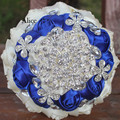 Alice Hand Bouquet Blue Milk Hand Bouquet Will Rhinestone Floriation Red Rhinestone Hand Bridal Bouquet Customized WB015
