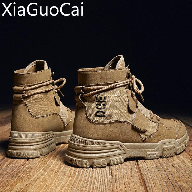 Hohe Qualität Mode Winter herren Martin Stiefel Warme Arbeits Stiefel Lace Up Männer der Wüste Stiefel Runde Kappe Hohe top Schuhe