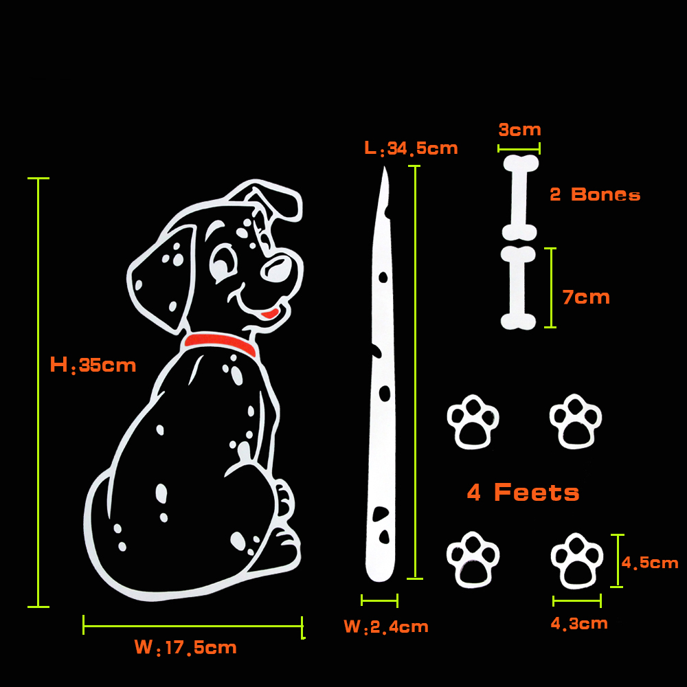 Image 2 - KAWOO Fashion Car Cartoon Animal Sticker Moving Tail Cute Puppy Dog Auto Stickers Reflective Car Styling Rear Wiper Decals-in Car Stickers from Automobiles & Motorcycles