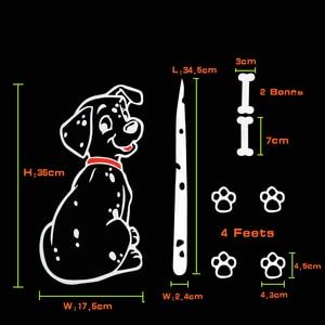 Image 2 - Модная мультипликационная наклейка с животным KAWOO для автомобиля, милый щенок с движущимся хвостом, автомобильные наклейки, светоотражающие украшения для заднего стекла и стеклоочистителя автомобиля