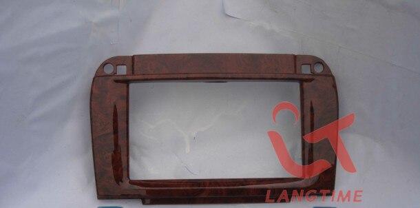 Автомобиля установке DVD рамки, панель DVD, приборов, фасции, радио, аудиокадр для 2002-2006 Benz, s-класс W220-персикового цвета, черный