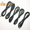 5pcs Free Shipping Power Cable Extensions DC 5.5 2.1 Male to Male Extension Plug Cable