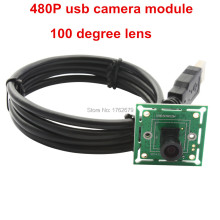 0.3Megapixel mini board usb camera M7 100 degree lens MJPEG 60fps 640×480 CMOS OV7725 Micro VGA security camera