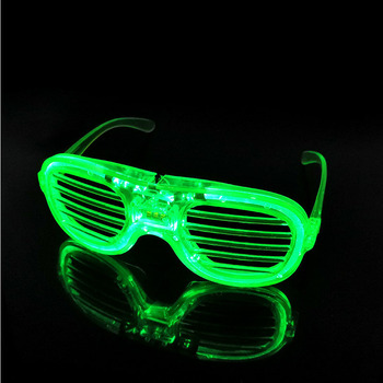 Shutter Glasses With LED Luminous Lighting For Birthday And Night Party