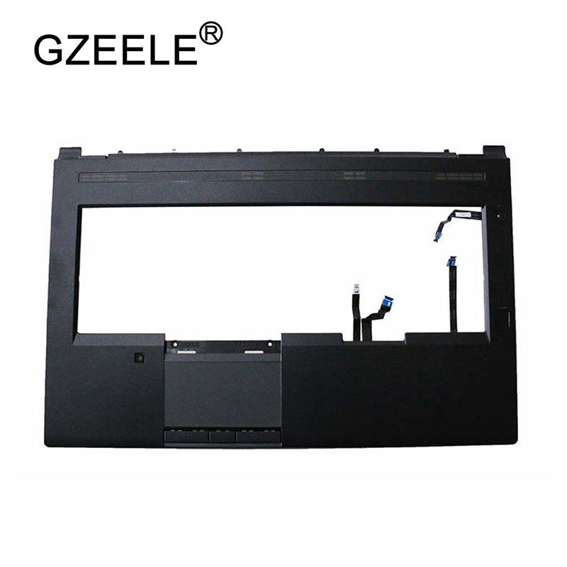 GZEELE New for Lenovo for ThinkPad P70 Palmrest Upper Case With Touchpad and Fingerprint Reader 00NY369 black