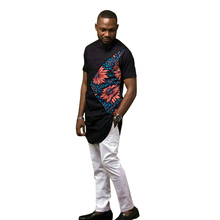 African clothing men's print short sleeve shirt with white trouser 2 pieces patchwork pant sets wedding male Ankara outfits