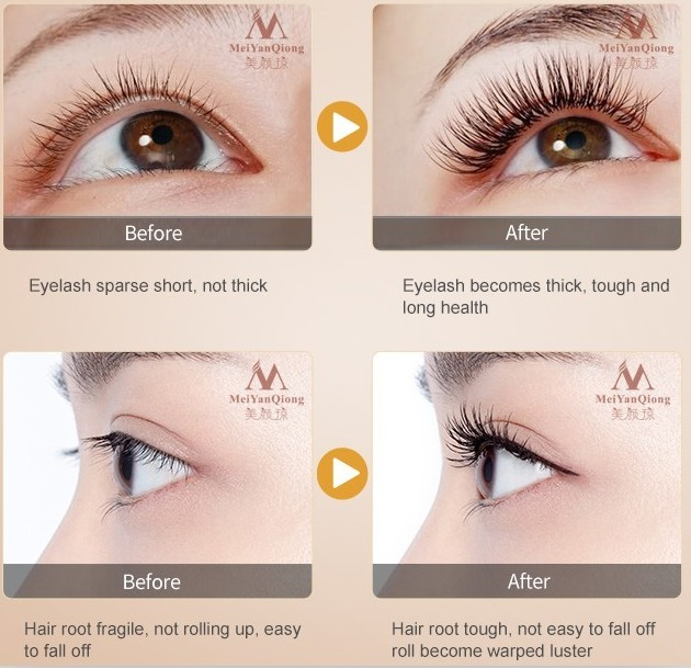 Herbal Eyelash Growth Treatments Liquid Serum Enhancer Eye Lash Longer Thicker Better than Eyelash Extension Powerful Makeup