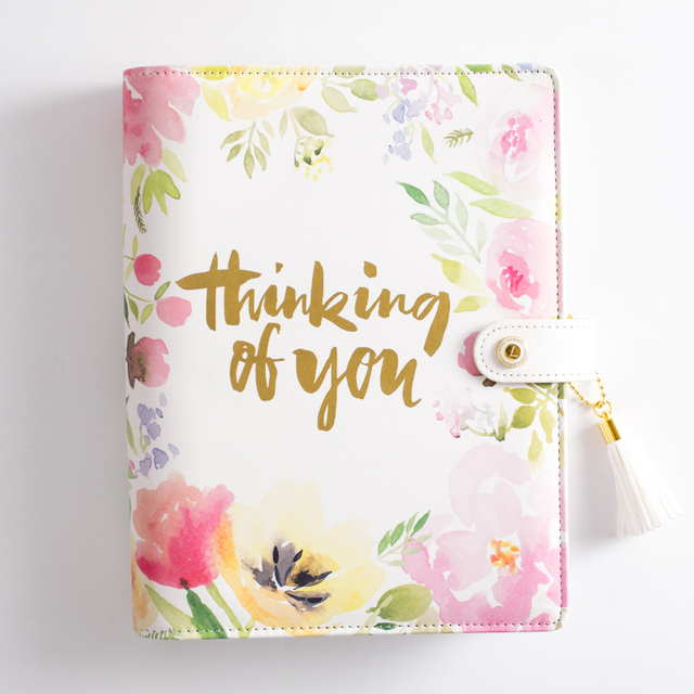 lovedoki floral notebook retro notebooks and journals daily planner