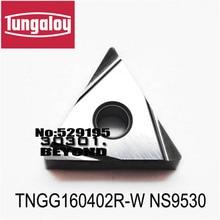 Original TNGG160402R W TNGG160404R W TNGG160408R W NS9530 TNGG 160402 160404 160408 Pastilhas de Metal Duro Torno Ferramentas De Corte