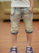 2016 d'été enfants shorts de causalité bleu couleur bébé garçon jean shorts pour garçons grands enfants d'été denim shorts