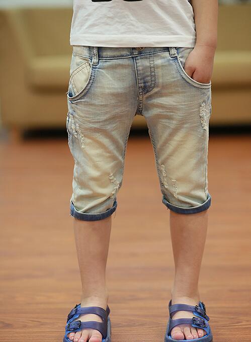 2018 summer children's clothes boys shorts causal blue